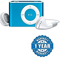 Drumstone Stylish MP3 Player with FM Radio (Metal Body) (Blue) Works With All Android or Iphone Devices (Color May Vary)