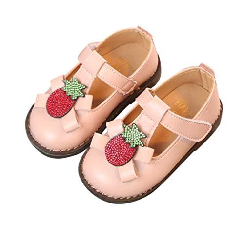 Babyschuhe, Malloom Kinder Kid Mädchen Erdbeere Kristall Prinzessin Bowknot Single FreizeitschuheBequem, Elegant, Hochwertig und günstig