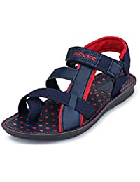 Azotic Men's Fashionable Comfortable Velcro Closure Solid Casual Sports Floaters & Sandals For Boys