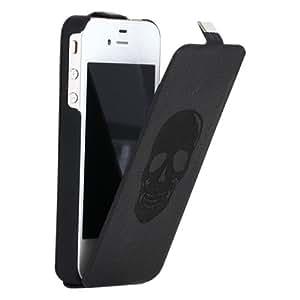 Zadig & voltaire ZVSKULLCOXIP5N Etui à rabat en cuir pour iPhone 5 Noir Skull tête de mort Noir