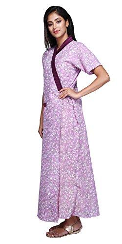 Babydoll Womens Ladies Housecoat House Coat Lounge Coat Robe Indian Nighty Night Gown Nightwear Sleepwear Size