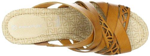 Rockport Slide Fashion Sandalen Braun Emily Cut BROWN SUDAN Laser Damen wrtvfxqwS