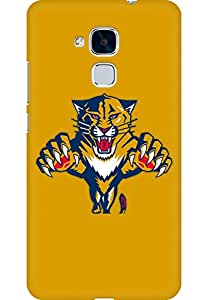 AMEZ designer printed 3d premium high quality back case cover for Huawei Honor 5C (Florida Panthers Logo)