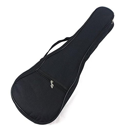 Doppel-zip-fall (Laifan Oxford Tuch Klein Schwarz Ukulele Fall Gigbag Gitarrentasche Rucksack Musikinstrument, 26 inch)