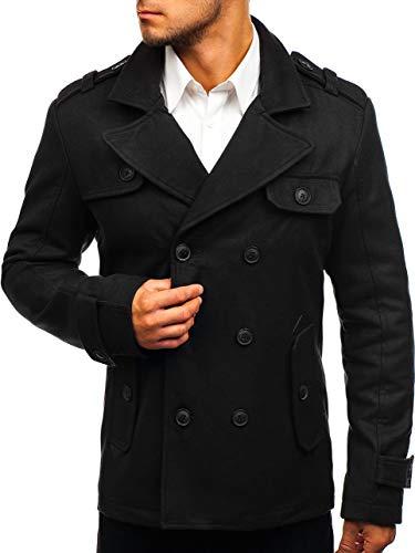 BOLF Herrenmantel Mantel Wärmemantel Jacke Winterjacke J.Style 3123 Schwarz M [4D4] Anzug Jacke