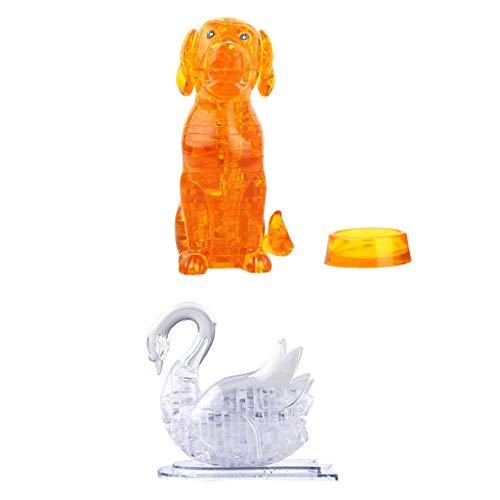 dailymall Hund Schwanfigur des Puzzlespiels 3D Kristallmodellbau Geschenkdekoration Der Stichsäge