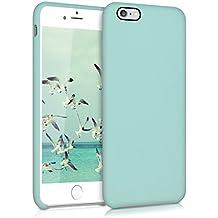 kwmobile Funda para Apple iPhone 6 Plus / 6S Plus - Case para móvil de TPU silicona - Cover trasero en menta