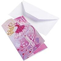 Amscan International 6Einladungen und Umschläge (Barbie Pink)
