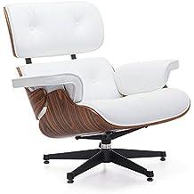 LO+DEMODA Lounge Meri - Sillón, piel, color blanco