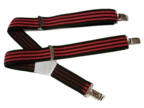 Bretelles entièrement réglable pour les enfants 1-5 ans Noir / Rose Vif