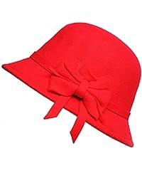 Beanie Bell Hat para Mujer Elegante Gorra Slouch Temperamento Arco Hat Moda Acogedor Pescador Sombrero Gorras