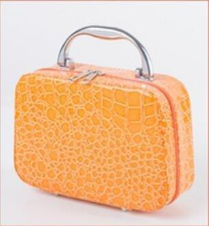 HQYSS Borse donna Grano pietra retrò coccodrillo modello contenitore di cosmetici Storage Case , lake blue orange