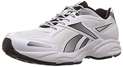 Reebok Men's United Runner 5.0 Lp White,Black and Silver Running Shoes - 14 Uk