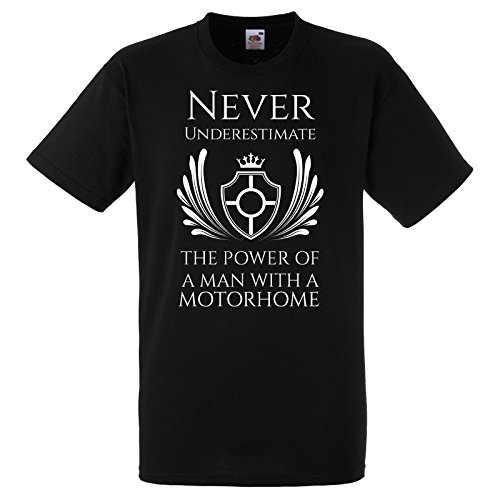 Never Underestimate The Power of A Man With A Motorhome Shirt