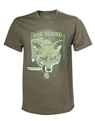 Metal Gear Solid V Maglia T Shirt Fox Hound Size M Bioworld