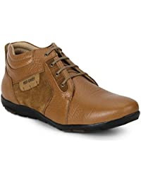 Red Chief Men's Tan Leather Casual Shoe -9