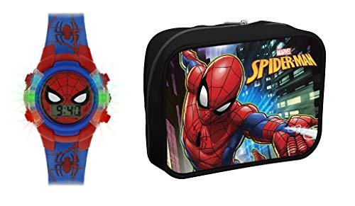 Spiderman Reloj Digital para Niños de Cuarzo con Correa en Plstico SPD4504ARGSET