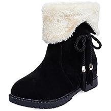 Botas Mujer Invierno, Botas de Nieve Botines de Invierno Zapatos de Mujer Zapatos