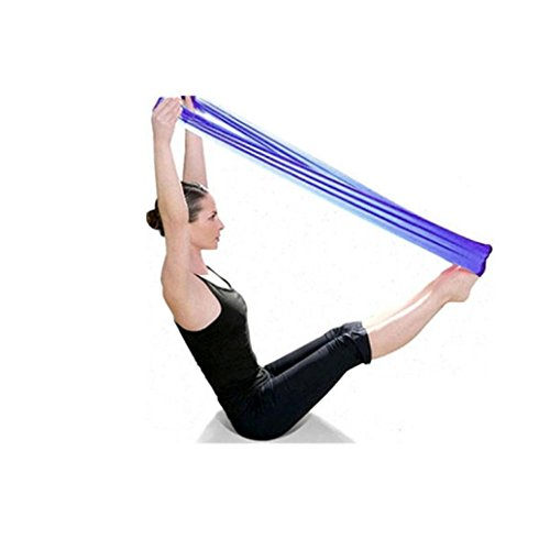 UIarma Fitnessbänder Übungsband Stretch Out Strap Pilates Yoga Workout Aerobic elastisch dehnbaren Band Gurt (Lila)