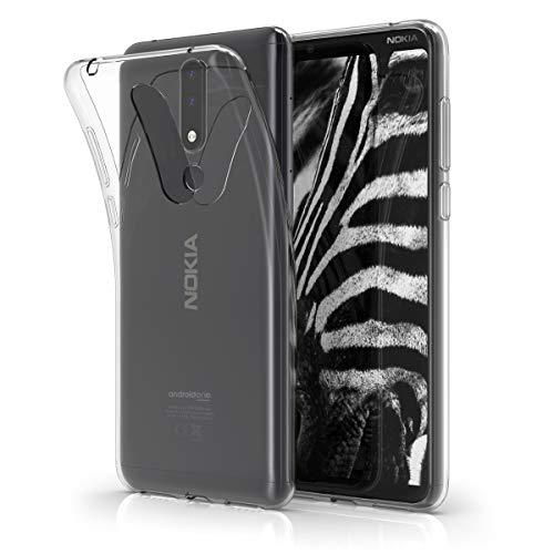 kwmobile Nokia 3.1 Plus (2018) Cover - Custodia per Nokia 3.1 Plus (2018) in Silicone TPU - Back Case Protezione Posteriore Trasparente