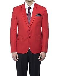 Favoroski Men's Raymond Wool Blazers - Red