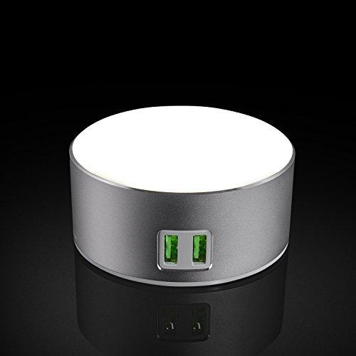 Preisvergleich Produktbild Intelligente LED-Nachttischlampe / Nachtlicht,  Dimmbares Licht,  Berührungsschalter,  2 USB-Ladeanschluss
