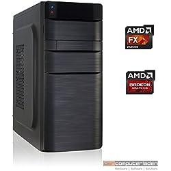 Office Aufrüst PC K11 AMD, FX-4300 4x3.8 GHz, 4GB DDR3, Radeon HD3000 1GB, 500W, Computer zusammengestellt in Deutschland Desktop Rechner