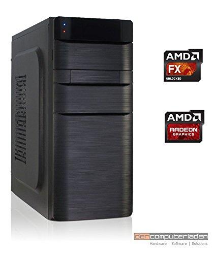 Office Aufrüst PC K11 AMD, FX-8350 8x4.0 GHz, 16GB DDR3, Radeon HD3000 1GB, 500W, Computer zusammengestellt in Deutschland Desktop Rechner (1 Gb Turbo Memory)