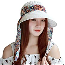 EUCoo Berretto da Donne Cappello Estivo per Protezione Solare Collo Coperto  Escursionismo Cappellino 3d9503353c0a