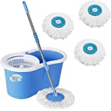 Shivonic Magic Dry Bucket Mop - 360 Degree Self Spin Wringing With 3 Super Absorbers for Home & Office Floor Wet & Dry Mop (Multicolor)