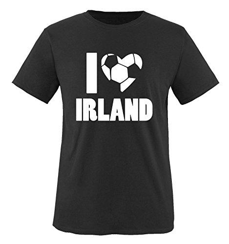I Love Irland - Kinder T-Shirt - Schwarz/Weiss Gr. 134-146 -
