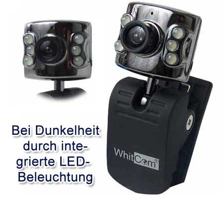 1.3 MP USB WEBCAM PC KAMERA MIKROFON 6 LED CAM SKYPE ! Webcam Ps2