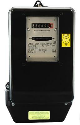 Drehstromzähler 10(40)A neu geeicht für Verrechnungszwecke zugelassen (max. 27,6 kW) von Prüfstelle EB17 von BZR (EB17) - Lampenhans.de