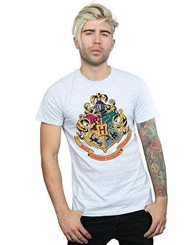 Harry Potter Herren Hogwarts Crest Gold Ink T-Shirt Sport Grau XXXX-Large