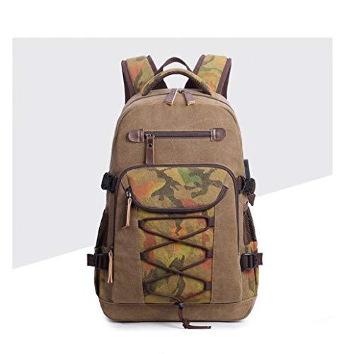 ZFLL SchultascheStudent Vintage Kordelzug Canvas Rucksack Schultaschen für Teenager Männer Reisen Laptop Rucksack Schultaschen von Luggage & Bags (Lila Rucksack Von Under Armour)