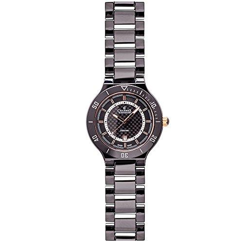 Charmex San Remo Homme 43mm Noir Céramique Bracelet Date Montre 2691