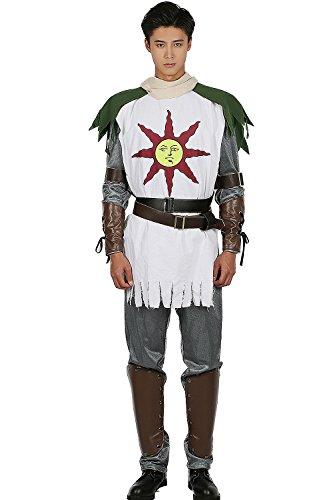 Solaire Kostüm Cosplay Halloween Anzug Top mit Prop Sun Warrior Kleidung Fancy Dress für Erwachsene (Sun Kostüme)