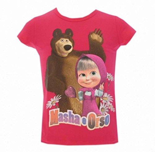 Arnetta masha e orso maglietta t-shirt bambina 004121 fx (6 anni)