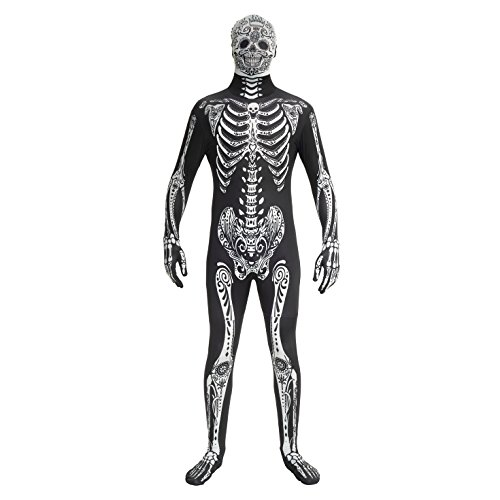 Skelett Kostüm Zentai - Morphsuits MPDDX - Day of the Dead Kostüm - Größe Xlarge - 5'10-6'1, 176 cm-185 cm