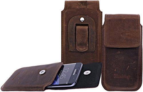 Flap-tasche Slim-jeans (Burkley - Vintage Design - Slim Leder Handyhülle für Apple iPhone SE / 5 / 5S Gürteltasche | Schutzhülle | Handytasche | Vertikal-Tasche | Holster | Case | Cover | Hülle mit Gürtel-Schlaufe und Gürtel-Clip (Kaffee Braun / Vertikal))