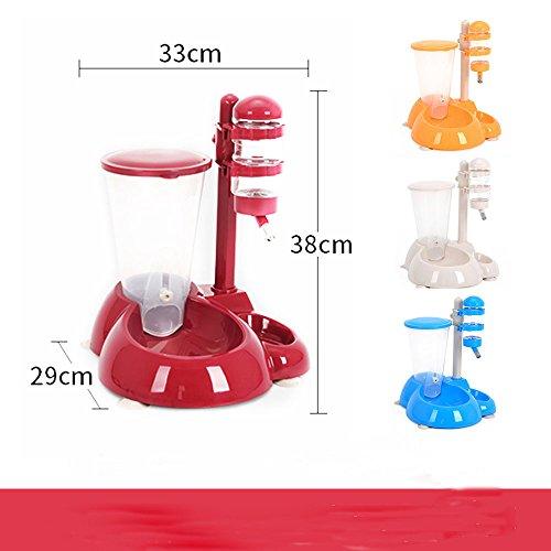 FGJHJJJHDS Kleine und mittelgroße Haustiere füttern Trinkbrunnen automatisch, um Trinkwasser zuzuführen,rot,Einheitsgröße