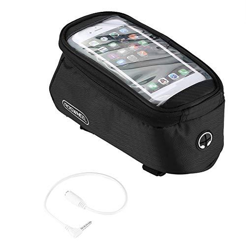 Sen-Sen Radfahren Fahrrad vorne Top Frame Pannier Tube Tasche Tasche für Handy schwarz - Top-touchscreen-handys