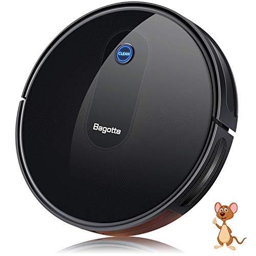 Aspirateur Robot, Bagotte BG600 aspirateur robot laveur 1600 Pa Succion, 6,9 cm Super Slim pour le nettoyage du pollen, des poils d'animaux, des tapis, des sols durs.
