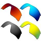 HKUCO Verstärken Ersatz-Brillengläser für Oakley Radar Range 53-097 Rot/Blau/Schwarz/24 Karat Gold Sonnenbrille