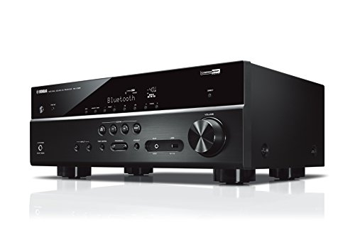 Yamaha AV-Receiver RX-V385 MC schwarz - Hochwertiger Mehrkanal-Receiver mit kraftvollem 5.1 Surround-Sound - ideal für das eigene Heimkinosystem - Kompatibel mit 4K Ultra HD Audio-video-receiver