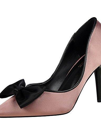 GS~LY Damen-High Heels-Kleid-Kunstleder-Stöckelabsatz-Absätze / Geschlossene Zehe / Spitzschuh-Schwarz / Lila / Rot / Grau / Leopardenmuster red-us5 / eu35 / uk3 / cn34