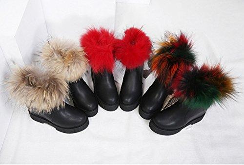JAZS® mode dhiver Chaussures pour femmes Bottes de ceinture Couleur des cheveux Fermeture à glissière latérale Augmentation de la pente avec des bottes à talons Confortable, résistant à lusure, sexy #2