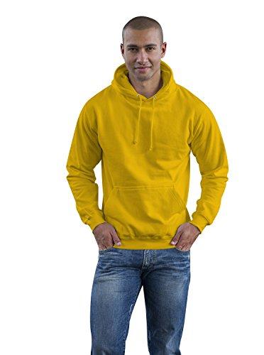 Just Hoods College Hoodie, Sun Yellow, XL College Hoodie Sweatshirt