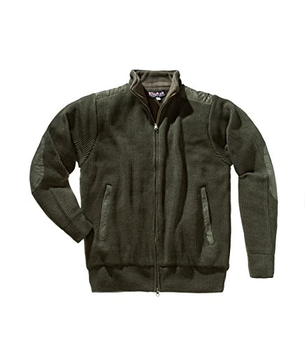 ELUTEX CHAQUETA DE PUNTO WOOD  COLOR VERDE OLIVA  TAMAñO MEDIUM