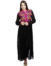 Black Elegant Tulip shaped kurti Suit